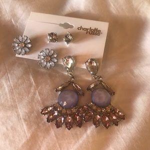 NWT beautiful classy charolette Russe earrings !